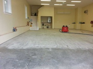 Prepped Floor By Diamond Grinding or Shop Blasting