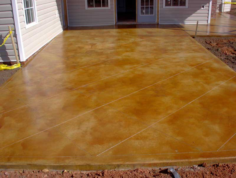 cement flooring acid stain add dramatic marbling with acid staining