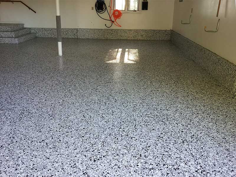 Basement flooring gallery take a photo tour for Basement concrete cleaner