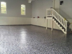 The Finished Faux Granite Floor