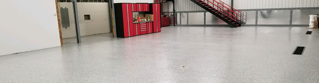 Industrial epoxy flooring 24,000 square foot floor in Seabrook NH