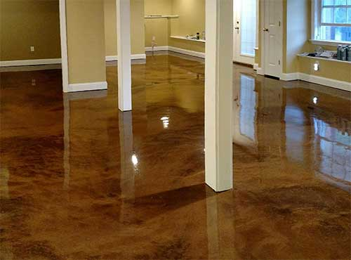 Choose metal illusion epoxing flooring for your interior floors.