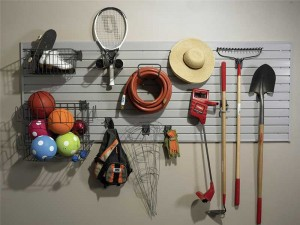Organize With Garage Slats